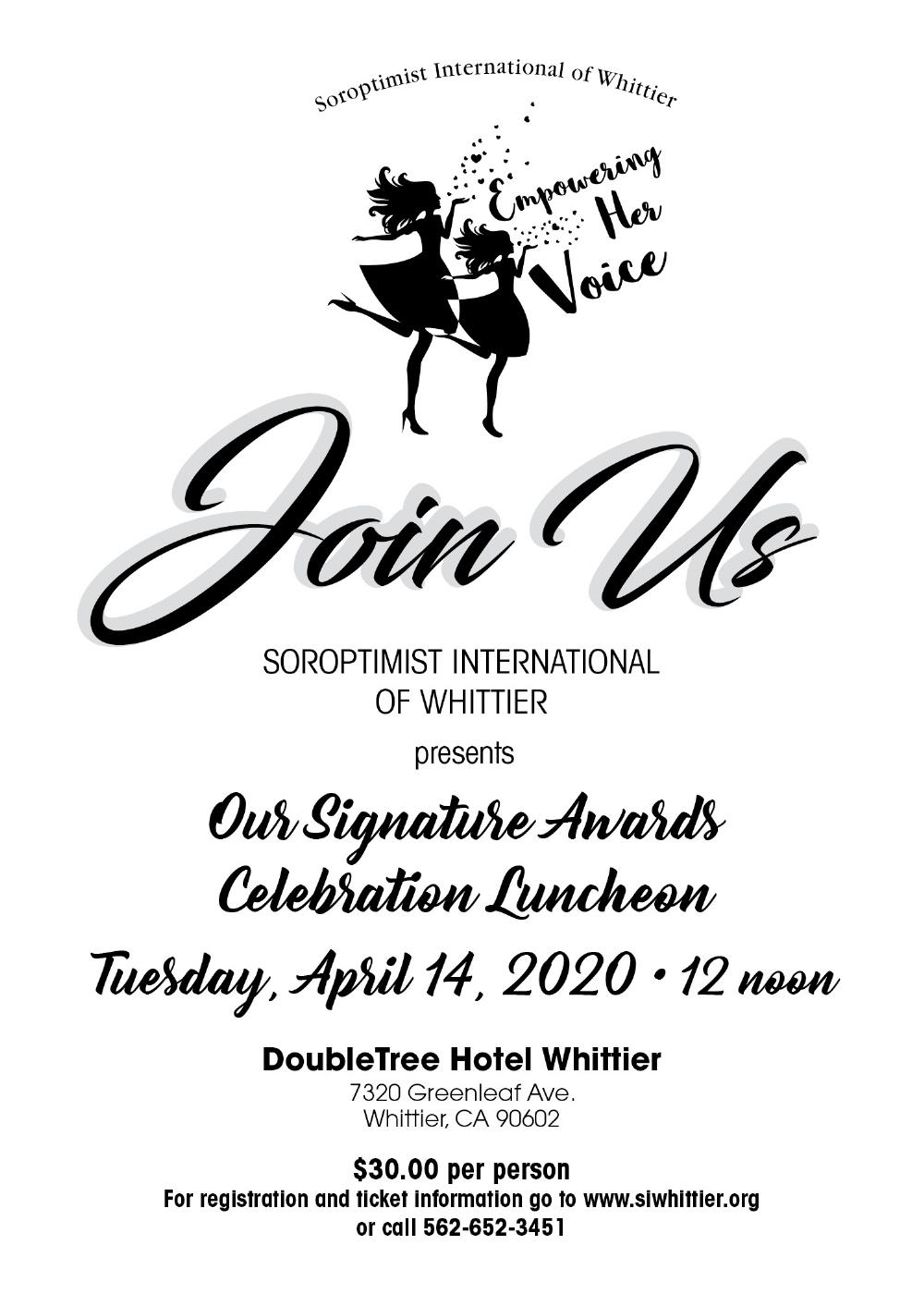 Signature Award Luncheon Invite 2020